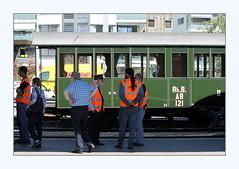 RhB (overthemoon) Tags: switzerland suisse schweiz svizzera romandie vaud vevey railwaystation gare rhätischebahn vintage carriage people platform candid frame