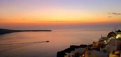 Romantic evening, Santorini (majka44) Tags: santorini oia evening travel boat ship building architecture romance reflection colors nice atmosphere