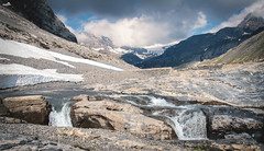 Lämmerendalu (VandenBerge Photography (and we're back again)) Tags: lämmerenboden landscape water melting snow wildstrubel wildstrubelbach lämmerenbach nature clouds canon cantonofvalais eos80d steghorn sky pov river alps mountains wildness texture glacier