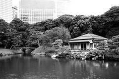 Hamarikyu Gardens, Tokyo, Japan (Plan R) Tags: garden house pond tree building park hamarikyu tokyo monochrome blackandwhite leica m 240 summilux 35mm