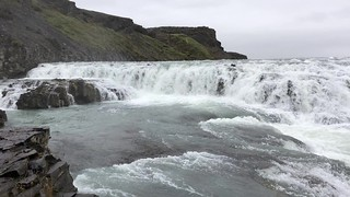 Gullfoss Waterfalls on the Hvítá river - along the Golden Circle - Gullfossi Iceland
