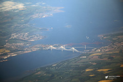 Forth Road, Forth Rail and Queensferry Crossing Bridges, Firth of Forth, Scotland (Kev Slade Too) Tags: forthroadbridge forthrailbridge queensferrycrossing firthofforth scotland airtoground