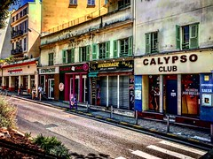 """""""Calypso Club"""" (giannipaoloziliani) Tags: hdr downtown city oldstreet alleys capturestreets decay street nizza periphery suburbs colors streetphotography flickr france nice iphone iphonephotography"""