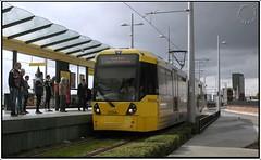 3104 at Deansgate Castlefield (zweiblumen) Tags: 3104 metrolink tram deansgatecastlefield publictransport canoneos50d polariser zweiblumen manchester greatermanchester england uk