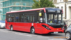 P1130253 1289 YX68 UJG at Mile End Station Grove Road Mile End London (LJ61 GXN (was LK60 HPJ)) Tags: ctplus hackneycommunitytransportgroup enviro200 enviro200d e200d enviro200mmc enviro200dmmc mmc majormodelchange 109m 10870mm 1289 yx68ujg h2977