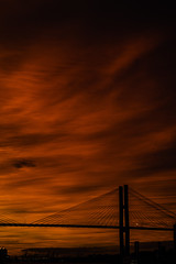 Burning Sunset behind the bridge (elnassim97) Tags: sunset bridge savannah georgia sc scad burning red sun dark pain danger ominous sony bealpha a7riii 85mmf18
