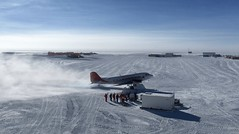 Farewell to last aircraft (europeanspaceagency) Tags: esa europeanspaceagency space universe cosmos spacescience science spacetechnology tech technology humanspaceflight concordia antarctica base research researchstation aircraft plane