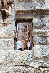 Pula, Croatia 2018 ([50storms]) Tags: croatia europe travel travelphotography canon6d canon2470mmf28l istria istrianpeninsula mediterranean adriaticsea history pula amphitheater coliseum roman woman women architecture