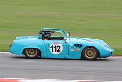 1965 Austin Healey Sprite 1400cc - James Hebditch and Tamsin Hebditch - CSSC Swinging Sixties 2018 - Donington Park (anorakin) Tags: 1965 austinhealey sprite 1400cc jameshebditch tamsinhebditch cssc swingingsixties 2018 doningtonpark