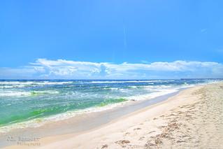 Looking West toward the Pier - Pensacola Beach, Florida