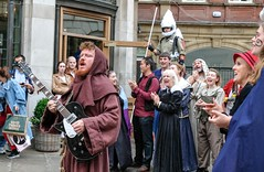 YMPST waggon play performance, St Helen's Square, 16 September 2018 - 10 (nican45) Tags: yorkmysteryplays2018 16september2018 16092018 18135 18135mm 2018 csc fuji fujifilm mysteryplays nickansell september sthelens sthelenssquare supporterstrust theharrowingofhell xt2 xf18135mmf3556rlmoiswr ymp ympst york yorkshire cast costumes mirrorless musician performance photographer photography waggonplay