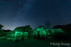 047-Keys_Ranch_Night-011 (Beverly Houwing) Tags: keysranch billkeys earlysettlers desert mining barn schoolhouse cabin ranching joshuatreenationalpark desertqueenranch outpost equipment home shed cars cemetery oreprocessing california yuccavalley 29palms night sky stars lightpainting green