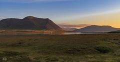 Sunset (einisson) Tags: sunset snæfellsnes iceland mountains sun water grass fence landscape outdoor nature einisson canon70d