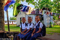 Vusaratu boys waiting to go to school (Dave Byng) Tags: 2018 fiji forestcamp operationwallacea people southpacific vusaratu schoolboys beamingfaces smilingfaces fijianboys readyforschool