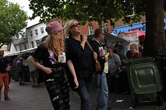 Girls (Bury Gardener) Tags: burystedmunds suffolk england eastanglia uk streetphotography street streetcandids candid candids strangers people peoplewatching snaps 2018 nikond7200 nikon cornhill