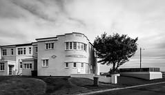 Beadnell . (wayman2011) Tags: canon5dlightroom5 colinhart wayman2011 bw mono architecture art deco houses villages coast northumberland beadnell uk