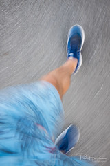 Fast in blue (PaulHoo) Tags: fujifilm x70 2018 mijdrecht speed impressionism fineart shaky longshutter longexposure movement color blue abstract running active health fashion