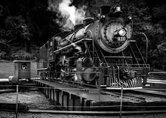Train Turntable (f.albertowilson) Tags: train engine turntable railroad tennessee museum steam bnw blackandwhite monochrome panasonic g85 14140mm blackdiamond