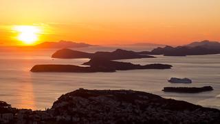 AidaBlu is departing Dubrovnik onto Split