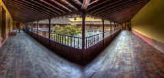 Balcony / Balconada (López Pablo) Tags: balcony wood building patio lalaguna tenerife canary islands spain canon powershot panorama