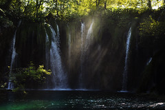 Light playing with water (Marta Marcato) Tags: light water waterfall play reflection nature green leaves life outdoor summer nikond7200 croatia nikon plitvicenationalpark plitvice nationalpark park tree trees shadow