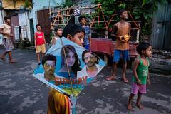 Gunday (SaumalyaGhosh.com) Tags: gunday boys naughty kids color colour kite india kolkata street streetphotography play fun surprise attention fuji xt2