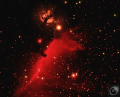 Flame & Horsehead Nebula (Reprocess) (Mary McIntyre nee Spicer) Tags: horseheadnebula flamenebula barnard33 ic434 astrometrydotnet:id=nova2783264 astrometrydotnet:status=solved