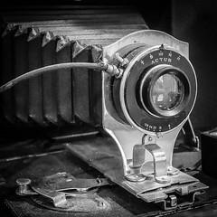 Actus (tim.perdue) Tags: actus camera vintage antique old classic film lens bellows columbus architectural salvage ohio black white bw monochrome no2 folding buster brown ansco shutter closeup detail