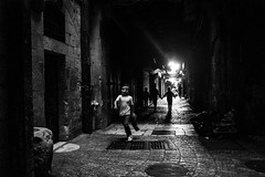 Child in time (Ohadic) Tags: alley jerusalem child boy black white natural light