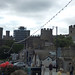Conwy Castle seen from Lower Gate Street, Conwy