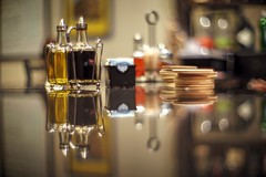Pass me the olive oil please (PeterThoeny) Tags: campbell sanjose california siliconvalley sanfranciscobay sanfranciscobayarea southbay restaurant table tabletop glasstop condimentholder condiments salt pepper reflection indoor dof depthoffield shallowdepthoffield bokeh bubbles sony sonya7 a7 a7ii a7mii alpha7mii ilce7m2 fullframe vintagelens dreamlens canon50mmf095 canon 1xp raw photomatix hdr qualityhdr qualityhdrphotography fav100