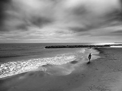 ALONE (Marcella Spanò Garsia) Tags: sea seaside bw clouds mediterraneo sicily sicilia summer italy italia sky mare spiaggia