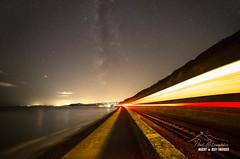 'Starlight Express' (macdad1948) Tags: devon milkyway train stars starscapes tracks dawlishwarren sea coast dawlish astro astrophotography networkrail intercityexpress night samyang14mm28