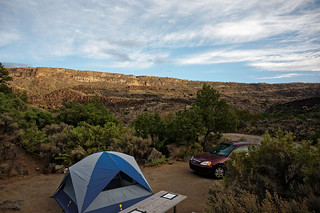 gorge campsite sunup