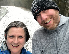 Snow Run 18-3-18 (col&tasha) Tags: face snow forest running brechfa woods hat frosty