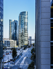 lumina canyon (pbo31) Tags: sanfrancisco california nikon d810 color city urban august 2018 summer boury pbo31 financialdistrictsouth glass tower contemporary transit transbay center salesforce blue architecture construction panoramic large stitched panorama parktower roadway skyline reflection over