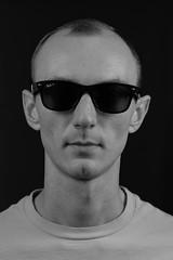 Ray Ban (Anthony Leveritt) Tags: wayfarer nikond610 nikonsb900 afsnikkor85mmf18g nikon sb700 blackandwhite portrait ray ban rayban sunglasses man face