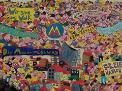 Leipzig mural marking 1989 demonstrations against Communist regime (TeaMeister) Tags: europe train rail seat61 interrail germany leipzig deutschebahn railwaystation bach eastgermany ddr europeanunion eu brexit goethe faust architecture