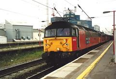 EWS Class 47/7s 47783 & 47777 - Warrington Bank Quay (dwb transport photos) Tags: ews locomotive 47777 47783 restored santpeter resred royalmail warringtonbankquay warrington