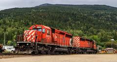 CP 5875 ~ Revelstoke (Chris City) Tags: train railway railroad mainline yard engine diesel sd402 revelstoke cpr