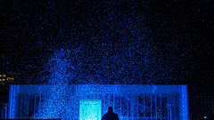 Spectacle in blue (RIch-ART In PIXELS) Tags: culturanovainternationaaltheaterfestivalheerlen theatre spectacle light leicadlux6 dlux6 night building culturanova heerlen zuidlimburg thenetherlands carillon theflightoftime outdoor