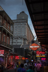 Bourbon St (Emmanuel RA) Tags: bourbon street new orleans louisiana usa travel vacations outdoors nightlife night clubs club fun evening dawn dusk harley davidson south southern canon 6d viaje eua calle callejera