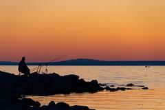 we rest (stefan.bayer) Tags: sb rest we lindau bodensee lake constance angler outline angel water sunset sun setting