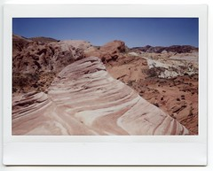 Nevada & Arizona 2018002 (Past Our Means) Tags: fujifilm fuji instax instant instaxwide instantcamera instantphotography polaroid travel nevada valley fire film filmisnotdead filmphotography filmsnotdead analog analogue analouge mountain mountian hiking summer 2018 rocks wanderlust nofilter
