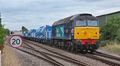 Winter Draws On!!! (JohnGreyTurner) Tags: br rail uk railway train transport lincolnshire lincs freight diesel engine locomotive drs rhtt thrall beckingham gainsborough 57 class57 47 class47 duff