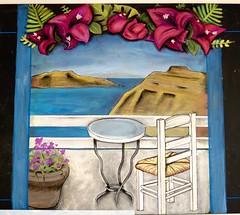 Santorini Center (Pixel & Smudge) Tags: chalkart chalkboard art chalk