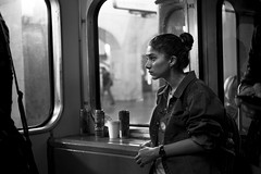 Stare (_storysofar_) Tags: streetphotography streetportrait portrait girl look stare window train subway underground moscow russia fujifilm