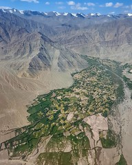 The most spectacular flight over Ladakh, this taken about 10 minutes before landing