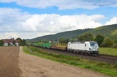 SETG 193 814, Wispenstein (Sander Brands) Tags: trein treni train treno trenuri trenuro traktion züg rail railfanning setg strecke siemens spotten shuttle sun sky holz nikon d5100 leinetal kbs350 vectron 193
