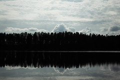 Images (miiav) Tags: nature naturephotography finland nordic lake island forest spruce clouds reflection mirror landscape minimalistic canon canon5d canon5dmkii landscapephotography